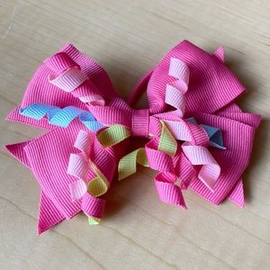 Pink Bow Hairtie